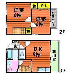 [テラスハウス] 岡山県倉敷市連島町鶴新田 の賃貸【/】の間取り