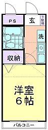MYコダイラ[203号室]の間取り