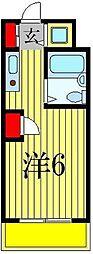 クレストパレス松戸[413号室]の間取り
