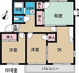 サニーヒルA[1階]の間取り