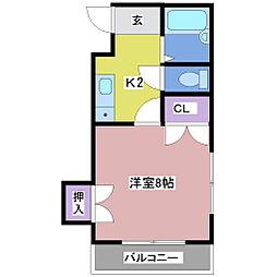 メゾン関芸[1階]の間取り