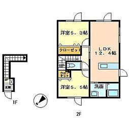 レジデンス熊谷I[202号室]の間取り