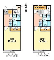 兵庫県姫路市白浜町寺家2の賃貸アパートの間取り