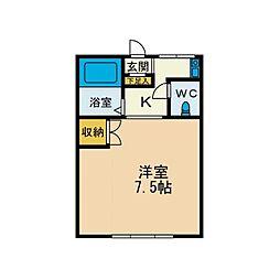 KIハイムB棟[1階]の間取り