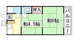 SUZURANDAI-SOUTH[A-202号室]の間取り