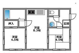 大野台マンション[2階]の間取り