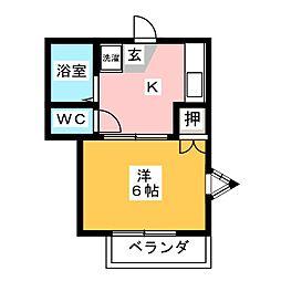 リバーサイド池田[1階]の間取り