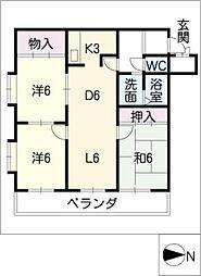 ネオ岩崎台[4階]の間取り