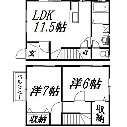 [テラスハウス] 静岡県浜松市南区芳川町 の賃貸【/】の間取り