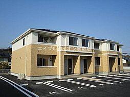 岡山県倉敷市玉島八島の賃貸アパートの外観
