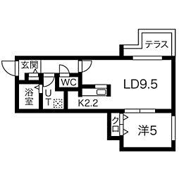 ラ・コーザN10[203号室]の間取り
