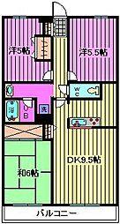 KSマンション原山[2階]の間取り