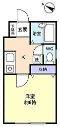 エースメゾン6[1階]の間取り
