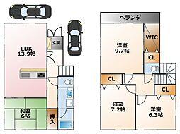 [一戸建] 兵庫県西宮市甲子園二番町 の賃貸【/】の間取り