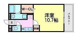 Park East南塚口[1階]の間取り