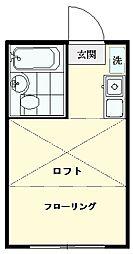コーポ末広[102号室]の間取り