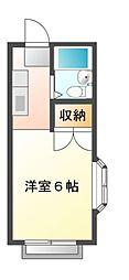 千葉県八千代市八千代台東3丁目の賃貸アパートの間取り
