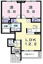 アッソラートI[2階]の間取り