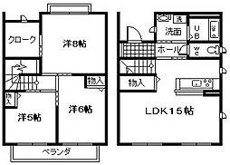 [テラスハウス] 大阪府岸和田市尾生町3丁目 の賃貸【/】の間取り