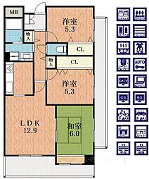 クルックス[2階]の間取り
