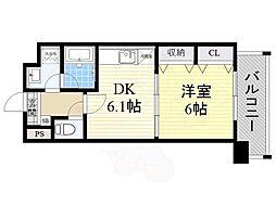 阪急千里線 北千里駅 バス8分 小野原南下車 徒歩3分の賃貸マンション 2階1DKの間取り