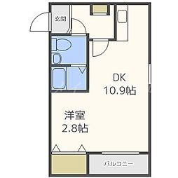 北海道札幌市東区北十七条東2丁目の賃貸マンションの間取り