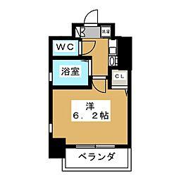 京都府京都市中京区西洞院通押小路下る押西洞院町の賃貸マンションの間取り
