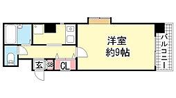 第6パークビル[3F号室]の間取り