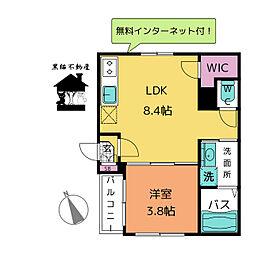 Jstage鳴海[2階]の間取り