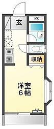 東京都八王子市犬目町の賃貸アパートの間取り
