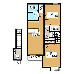 エスペランサ山崎[2階]の間取り