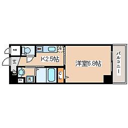 JR東海道・山陽本線 灘駅 徒歩6分の賃貸マンション 1階1Kの間取り