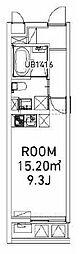 ファビオ東大前 3階ワンルームの間取り