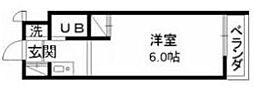 神奈川県大和市大和南2の賃貸マンションの間取り