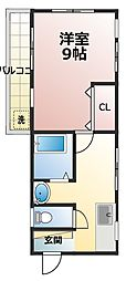 園生マンション[2階]の間取り