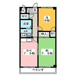 サニーコート平和[3階]の間取り