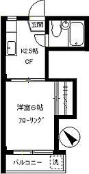 ハシビック狛江[305号室]の間取り