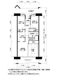 酉島リバーサイドヒルなぎさ街16号棟[4階]の間取り