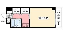 シェルフブラン南甲子園[312号室]の間取り