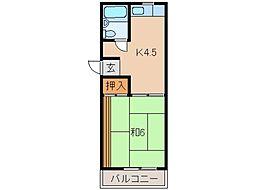 栄大ハイツE棟[2階]の間取り