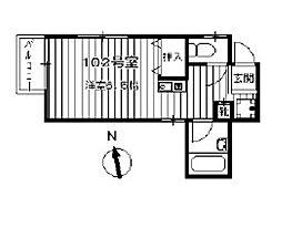 エステート王子神谷[2階]の間取り