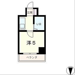 アセンティアびわこ[2階]の間取り