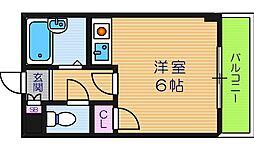 大阪府大阪市阿倍野区美章園1丁目の賃貸マンションの間取り