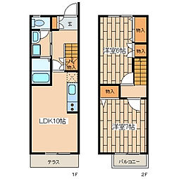 グランドソレイユ101号室[1階]の間取り