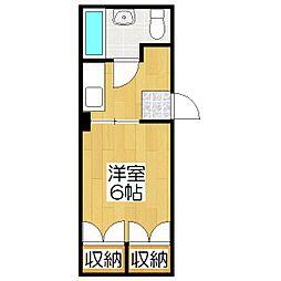 京都北野レジデンス[501号室]の間取り