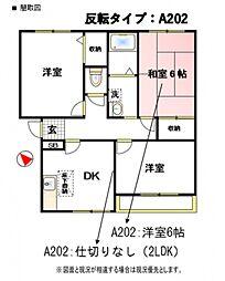 中野ハイツA[101号室号室]の間取り