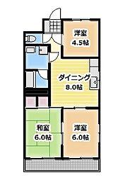 マンション松[3階]の間取り
