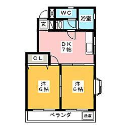 サンツイン[2階]の間取り