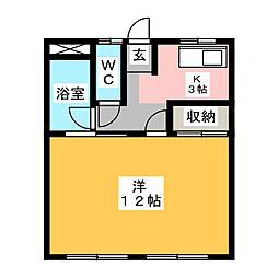 小橋苑[3階]の間取り