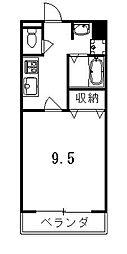 ラフィーネ芦山寺[306号室]の間取り
